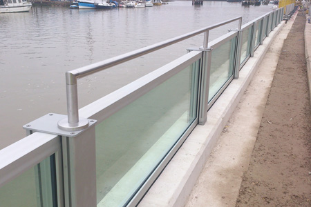 Glass Flood Defence System For Littlehampton